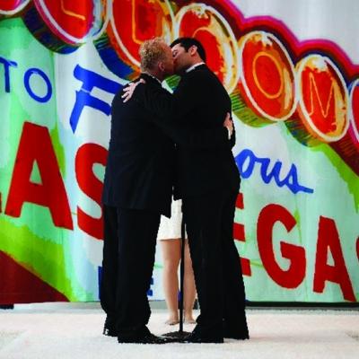 Viva las vegas same sex marriage milestone the gayly for Same sex wedding las vegas